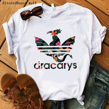 Trending Harseez] Women Dracarys T-Shirt Female Mother of Dragon Tops