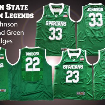 Michigan State Spartan Legends Basketball Jerseys (Adult and Youth Sizes)