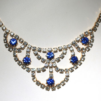 Luxe Rhinestone Bib Necklace