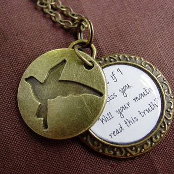 Music Ed Sheeran Lyrics Quote Little Bird Hidden Necklace