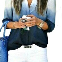 Summer Blues Blouse