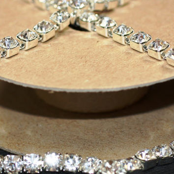 Cystal/Silver Rhinestone/Diamante/Crystal Trim - 1Metre - Many sizes (3mm/4mm/5mm/6mm) - Accessories, Cakes, Bouquets, Jewellery, Costume!