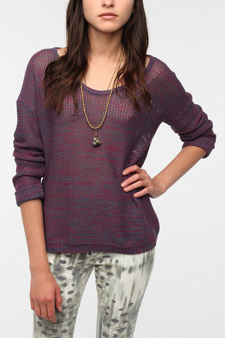 byCORPUS Marled Netted Pullover Sweater