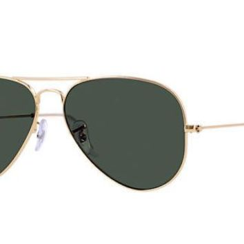 Ray-Ban Aviator Large Sunglasses - Gold/Green