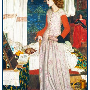 William Morris Camelot's Guinevere Counted Cross Stitch or Counted Needlepoint Pattern