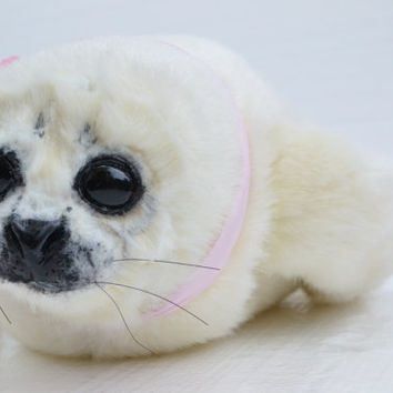 Seal Pup Art Doll Handmade OOAK