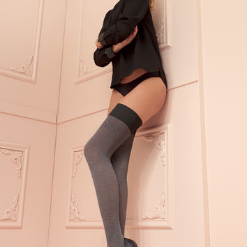 Melany 80 Den Soft Cotton Thigh Highs