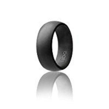 DCCKWA2 Silicone Wedding Ring For Men By ROQ Affordable Silicone Rubber Band, 7 Pack, 4 Pack & Singles - Camo, Metal Look Silver, Black, Grey, Light Grey