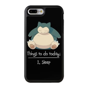 Things To Do Today Sleep Pokemon Snorlax iPhone 8 Plus Case