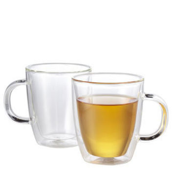 Double Walled Heat Resistant Glass Mug