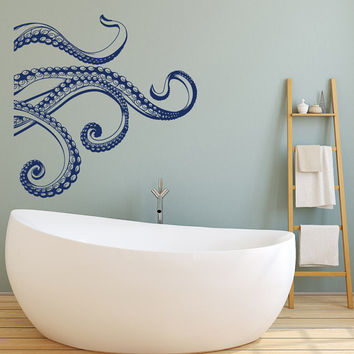 Kraken Octopus Tentacles Vinyl Wall Decal- Octopus Wall Decal Bedroom Bathroom Decor- Octopus Tentacle Vinyl Decal- Sea Ocean Wall Decal #37