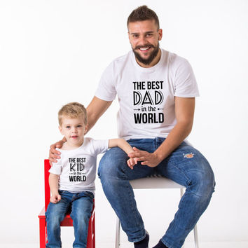 The Best Dad in the World, The Best Kid in the World, Daddy and me Shirts, Daddy and me, Father's Day T-Shirt, Daddy and me t-shirts, UNISEX