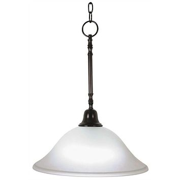 SONOMA™ PENDANT DOWN LIGHT CEILING FIXTURE WITH ONE 40 WATT COMPACT TYPE FLUORESCENT LAMP, 15 IN.
