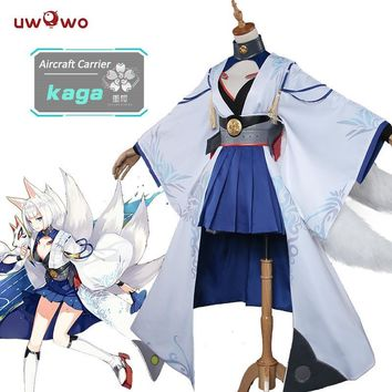 Cool UWOWO Kaga Azur Lane Cosplay Anime Azur Lane Costume Kaga Fox Kimono Cosplay Costume WomenAT_93_12