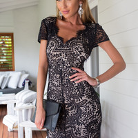 Willow Lace Dress (Black)