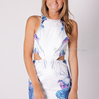 blessed are the meek aquatic mirage dress - multi at Esther Boutique