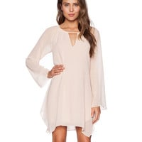 Bell Sleeve Cut Out Mini Shift Dress