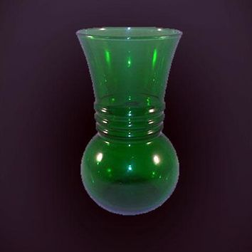 Anchor Hocking Forest Green Bud Vase