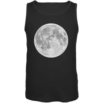 Earth's Moon Black Adult Tank Top