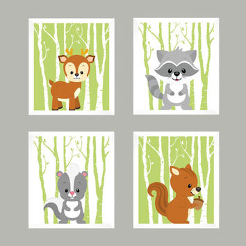 Nursery Decor, Baby Decor, Woodland Nursery, Baby Print, Nursery Print, Animal Print, Forest Animals, Woodland Animals, Wall Art, Wall Decor