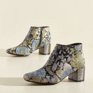 Poetic License You Grew My Mind Bootie in Floral | Mod Retro Vintage Boots | ModCloth.com