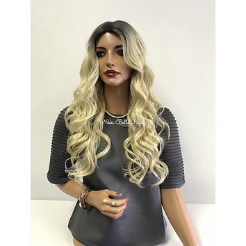 """Blond Ombre' Swiss Lace Front Wig 18""""