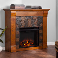 Woodbridge Home Designs Blake TV Stand with Electric Fireplace