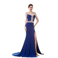 Lttdress Women's Backless Prom Gowns Long Dresses for Women