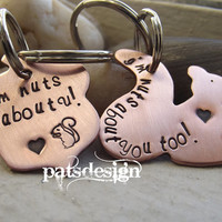 Nuts about you squirrel and Nut set, one for her and one for him