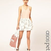 ASOS Petite | ASOS PETITE Puffball Mini Skirt in Scenic Print at ASOS