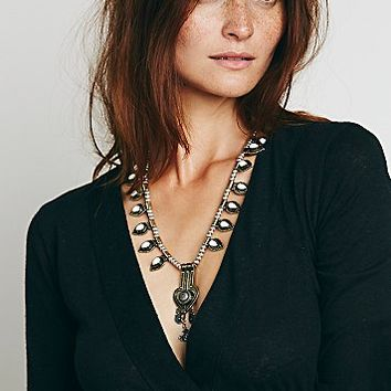 Free People Womens Deco Drop Pendant