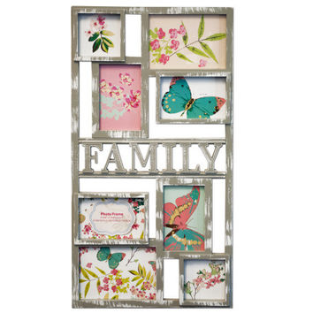 Grey Family Collage Photo Frame: Case of 12