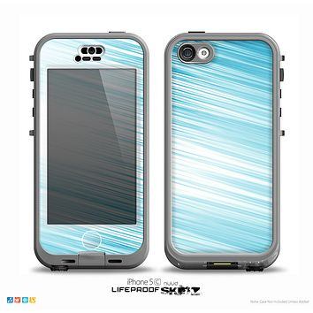 The Bright Diagonal Blue Streaks Skin for the iPhone 5c nüüd LifeProof Case