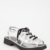 Urban Outfitters - Deena & Ozzy Clear Plastic Lace-Up Sandal