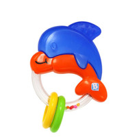 Baby Teether Toys Little Dolphin Teether Baby Rattle Toy 5.9*3.9''