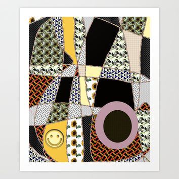 crazy quilt pattern, LEGGINGS Art Print by ACKelly