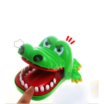 Practical Jokes Crocodile Mouth Dentist Bite Finger Game Joke Fun Funny Toy Antistress Gift Kids Child Family Prank