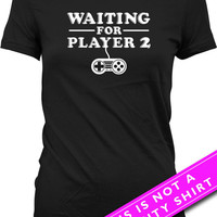 Pregnancy Announcement T Shirt Pregnancy Reveal Waiting For Player 2 Maternity Clothing Pregnancy Tops Gamer Mom Shirt Ladies Tee MAT-566