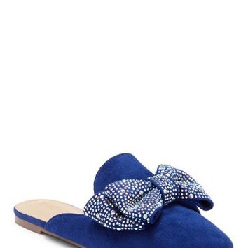 Chase & Chloe | Fione Embellished Bow Flat Mule | Nordstrom Rack