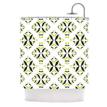 "Miranda Mol ""Lime Green Rainforest"" Shower Curtain"