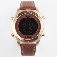Lrg Digi Watch Gold/Brown One Size For Men 22915740001