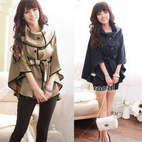 C99D New Fashion Women's Golilla Cloak Cape Bat-wing Coat Tops New Korean