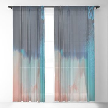 Adrift Sheer Curtain by duckyb