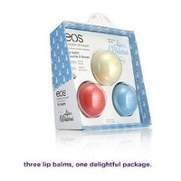 EOS Limited Edition 3-pack Lip Balm Collection - Blueberry Potion, Sweet Vanilla Nonsense & Watermelon Wonderland - Inspired By Disney Alice in Wonderland