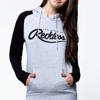 Young & Reckless Big R Script Raglan Pullover Hoodie - Womens Hoodie - Black