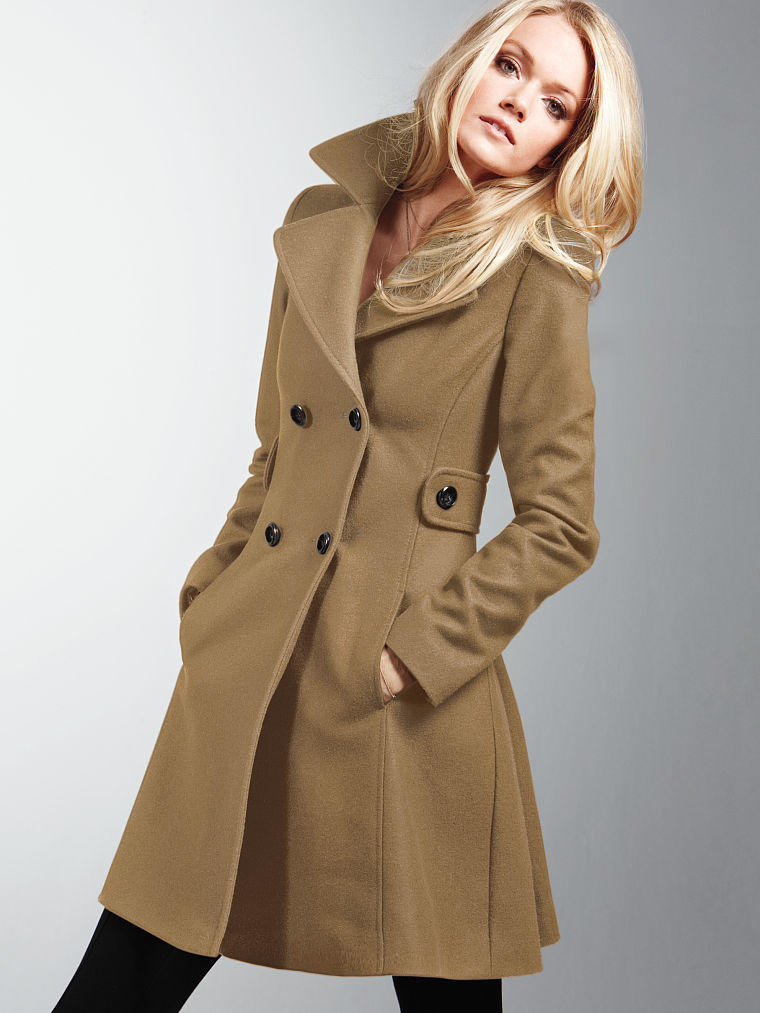 The wool side tab coat victoria s from victoria s secret