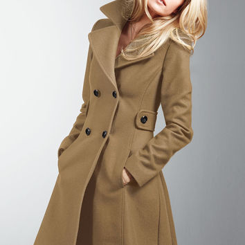 The Wool Side-Tab Coat - Victoria's Secret