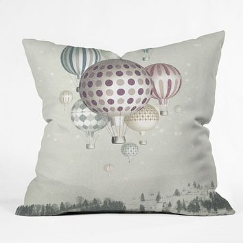 Belle13 Winter Dreamflight Throw Pillow