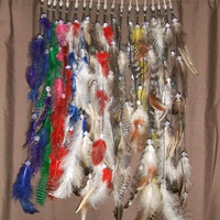Colored Feather Fantasy Hair Extension Alligator Clip Barrette