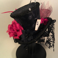 CUSTOM Mad Hatter Mini Top Hats Made to your desire Alice in Wonderland Tea Party Burlesque